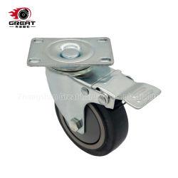 ボールベアリング産業用キャスター中ヘビーデューティ TPR 、 PP 、 PU 、 PVC 固定 / スイベル / ブレーキキャスターホイール