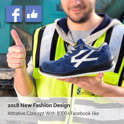 Marcação S1p aprovado trabalhando o calçado de segurança com Toe composto & Placa de Kevlar, verdadeira Suede Couro Resistente a Óleo Calçado de segurança fabricantes para trabalho industrial