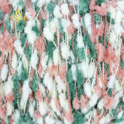 Fios de nó/fio de Knop coloridos 100% poliéster para Knitting