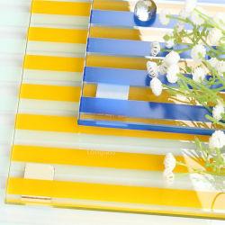Le verre trempé / durci clair de l'impression de l'écran en verre à motifs de diamants pour porte coulissante