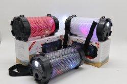 カラオケの無線Bluetoothのスピーカー多彩なランプのバレル可聴周波Uのディスクのカードの低音のBluetoothのギフトのスピーカー