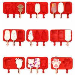 涼しい夏の熱い販売の BPA 自由なかわいいキャンディーの凍結のシリコーン ICE バーモールド