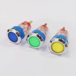 中国の製造業者は切羽の平らな円形の照明のプッシュボタンプラスチックを寝具する 1 no1nc