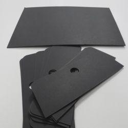Hölzerne Massen-Presse-verbindliches Material-Schwarz-Papier für KleidungHangtag