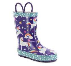 Regenbogen-Pferden-Mädchen-Entwurf scherzt im Freien Regen-Aufladungs-wasserdichte Gummiaufladungen