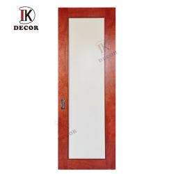La conception de la porte coulissante en bois de placage Grange portes intérieur en bois teinté acajou portes avec verre acrylique