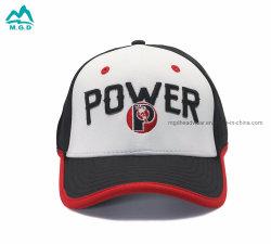 Il marchio ricamato lettera su ordinazione di baseball dei cappelli di sport degli uomini di alta qualità ricopre le protezioni di corsa esterne