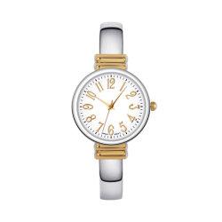 Senhoras de moda pulseiras manguito Bangle Relógios de quartzo analógico de discagem Redondo relógio de pulso para as mulheres (JY-AL145)