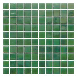 Edifício moderno interior verde brilhante misturado Arte Mosaico Mosaico de vidro reciclado