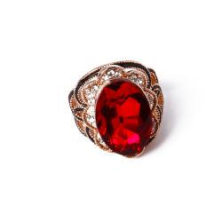 Monili di modo dell'oro della Rosa con vetro ed i Rhinestones