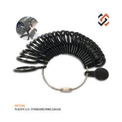 Wir Standardschmucksachen des ring-Größen-Anzeigeinstrument-Mkt046 bearbeiten Plastikfinger-Ring Sizers
