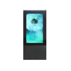 75 pouces Double-Side Outdoor Abribus AFFICHEUR LCD
