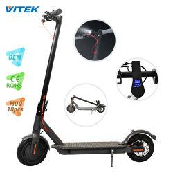 Precio directo de fábrica de motos adulto 8.5inch eléctrica electrónica Kick 250W Scooter plegable E