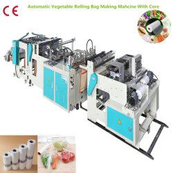 Automatische Heißsiegelfähigkeit-Wärme-Ausschnitt-Maschine, die Plastiktasche-Abfall-Beutel-den biodegradierbaren Einkaufstasche-Shirt-Beutel herstellt Maschine, Beutel herstellt Maschinerie rollt