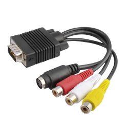 كبل محول تلفزيون AV من VGA إلى S-Video 3 من RCA كمبيوتر شخصي