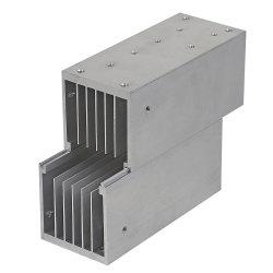 Legierung 6063 verdrängte Aluminium-/Aluminiumkühlkörper mit der maschinellen Bearbeitung