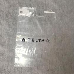 LDPE Plástico Ziplock Bag Reclosable clara com pega