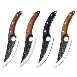 Manche en bois Hotsale Nonstick Stick en acier inoxydable enduits de viande de lame de couteau de cuisine Chef
