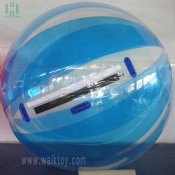 青いPVC TPU膨脹可能な水球