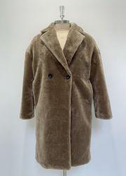 Ladys gefälschter Pelz-Mantel (betriebsbereite Kleider fasten Anlieferung)