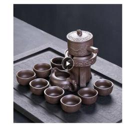 Insieme di tè semiautomatico stridente di pietra dell'argilla viola, tè creativo di Kung Fu