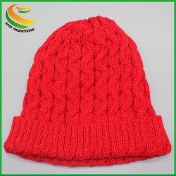 Мужчины Женщины пустым Custom вязки Wamr Beanie Зимняя Red Hat