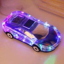 Lampe à LED de la forme de voiture du caisson de basses Mini haut-parleur de résonance de microphone sans fil