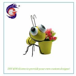 Comercio al por mayor forma de abeja Lindo el hierro forjado Maceta Jardinería Decoración