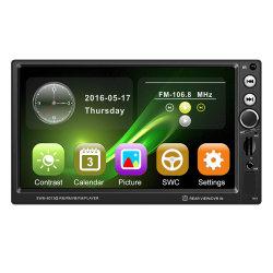 7 Polegadas estéreo para automóvel 2 DIN GPS no painel de leitor de MP5 com telecomando do volante