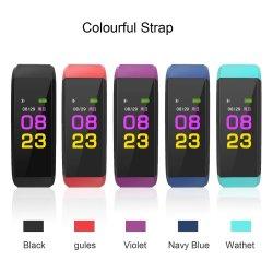 115 HR Bracelet Bracelet à puce de fréquence cardiaque plus le noir de la bande de couleur OEM Montre de sport
