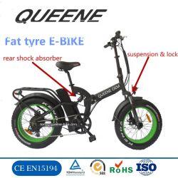 Складные MTB Queene/жир Ebike шин велосипеда с электроприводом складывания полной приостановки