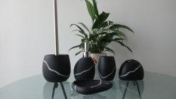 Haute qualité Décoration maison 5 pcs Polyresin Salle de bains Accessoires (BP0870-BS)