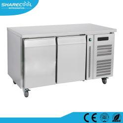 нержавеющая сталь рабочий стол холодильник с выдвижными ящиками