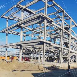Novo design industrial fabricada móveis modulares Prefabricatedworkshop acabados de aço leve a construção da estrutura a estrutura do prédio