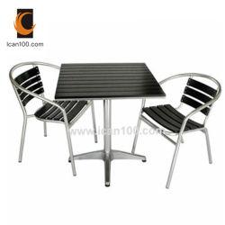 Легкий вес для использования вне помещений для отдыха пути патио металлические алюминиевые деревянные бар, мебель (PWC-351)