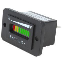 Voyant batterie Ladeanzeige Anzeige compteur Auto Batterie testeur Kapazitä T 24 V 36 V 48 V Drei-Farbe 10 -Bar