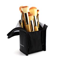 Sacchetto nero del supporto di spazzola di trucco del ODM dell'OEM, sacchetto cosmetico della spazzola del tessuto resistente all'uso del poliestere per la promozione