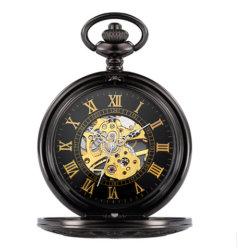 Mecánico automático Dial hueco Japón Quartz reloj de bolsillo (JY-HL033)