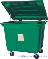 Reciclagem Inclinação plástico & Cube caminhões com 480 litros de capacidade