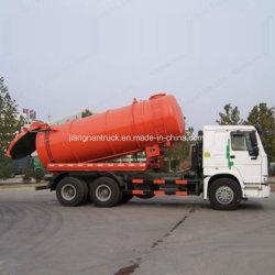 China HOWO 290 HP-Absaugung-Abwasser-LKW mit Vakuumpumpe
