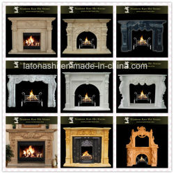 Art Deco moderno //Beige Blanco/Negro/Rojo/oro/mármol o granito y piedra caliza//Exterior/Interior/chimenea eléctrica para la chimenea Mantel/Surround/estufa de leña