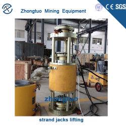Précontrainte horizontale Multi-Strand Jack hydraulique après le système de tension