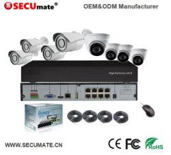 2MP 4/8 CH poe la seguridad Sistema de cámara IP exterior CCTV con cable en casa de infrarrojos de NVR Kit