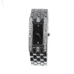 Mirar hacia atrás de acero inoxidable al por mayor Joyas de diamantes Relojes de pulsera (cm19076)