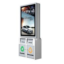 대용량 휴지통 휴지통 광고 LED 표시등이 있는 휴지통 상자