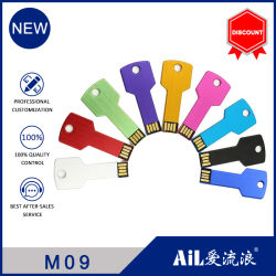 Logotipo personalizado USB Flash Drive USB 2.0 Flash de alta velocidad de 64GB Pen Drive 8GB 16GB 32 GB 128 GB USB 3.0 de Metal Pendrive