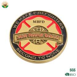 맞춤형 금속 공예 3D 로고 소프트 에나멜 챌린지 코인 밀리터리 경찰 특전 기념품 동전 프로모션 선물