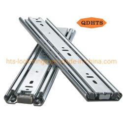 الأثاث الأجهزة منتجات جديدة الفولاذ / الحديد 35 مم ثلاثي الطي المحمل الكروي درج الإطالة الكامل لكابور المطبخ المتراكب ذو الإغلاق الذاتي الناعم الشرائح