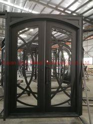 Portelli di entrata di lusso del ferro saldato della Camera con la finestra di vetro del doppio comitato Tempered