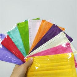 10의 색깔 처분할 수 있는 3은 Meltblown 방진 Breathable 피복 방호마스크를 부지런히 쓴다